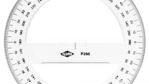 Circular Protractor Template Buy Circular Protractor 360 Degree 6 Inch