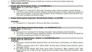 Civil Draughtsman Resume Sample 7 Draftsman Resume Templates Free Word Pdf Document
