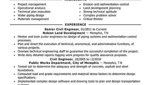 Civil Engineer Resume Headline Best Civil Engineer Resume Example Livecareer