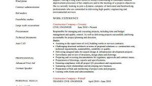 Civil Engineer Resume Job Objective Free 6 Sample Civil Engineer Resume Templates In Free