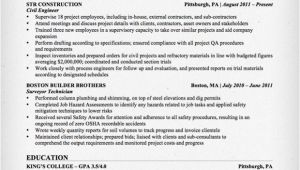 Civil Engineer Resume Model Civil Engineering Resume Sample Resume Genius