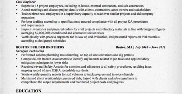 Civil Engineer Resume Model Civil Engineering Resume Sample Resume Genius