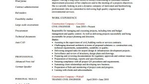 Civil Engineering Resume Objective Free 6 Sample Civil Engineer Resume Templates In Free