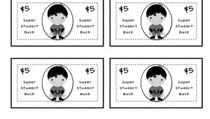 Classroom Bucks Template Super Student Bucks Math Rewards In One Teacher Idea