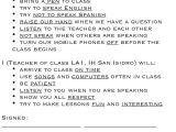 Classroom Contract Template Recipes for the Efl Classroom A Little Blog Of My