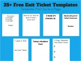 Classroom Exit Ticket Template Exit Ticket Template Cyberuse