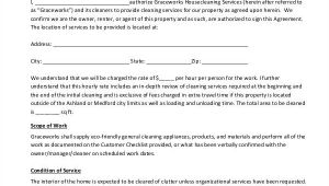 Cleaning Service Contract Template Pdf 13 Sample Cleaning Service Contract Template Pages