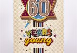 Clear Wrapping Paper Card Factory Signature Collection Birthday Card 60 Years Young