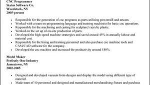 Cnc Programmer Resume Samples Cnc Programmer Resume Sample Sample Resume Cover Letter