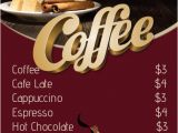 Coffee Morning Flyer Template Free Coffee Menu Template Postermywall