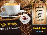 Coffee Morning Flyer Template Free Coffee Morning Flyer Template Postermywall