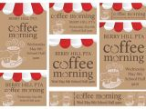 Coffee Morning Flyer Template Free Pta Coffee Morning Template Parent Involvement