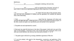 Cohabitation Contract Template Cohabitation Agreement 30 Free Templates forms ᐅ