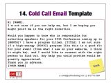 Cold Call Sales Email Template Marketing and Sales Accelerator for thought Leading
