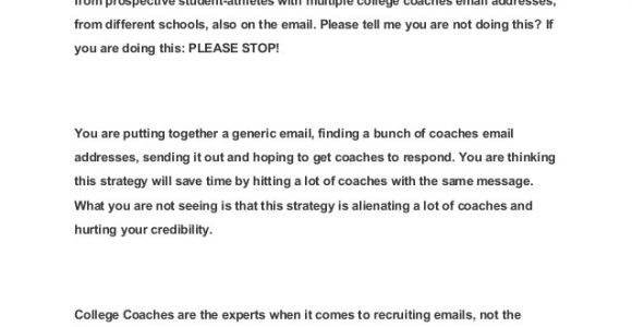 College soccer Coach Email Template 10 Helpful Articles when Writing Emails to College Coaches
