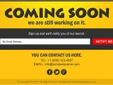 Coming soon Email Template Coming soon Landing Page Design Templates for Your