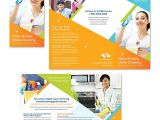 Commercial Cleaning Brochure Templates Cleaning Janitorial Services Tri Fold Brochure Template