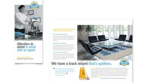 Commercial Cleaning Brochure Templates Janitorial Office Cleaning Tri Fold Brochure Template Design