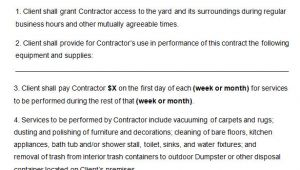 Commercial Cleaning Contract Templates 21 Cleaning Contract Templates Word Pdf Apple Pages