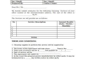 Commercial Cleaning Proposal Template Free Cleaning Proposal Template 12 Free Word Pdf Document