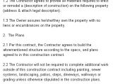 Commercial Construction Contract Template Construction Contract Agreement Template From Laws Com