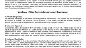 Commission Based Employment Contract Template Sales Commission Agreement Template