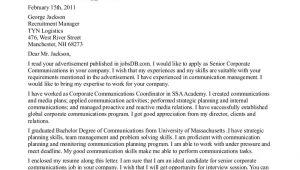 Communications Intern Cover Letter Cover Letter for Pr Internship the Letter Sample