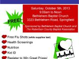Community Health Fair Flyer Template Free Community Health Fair October 5th
