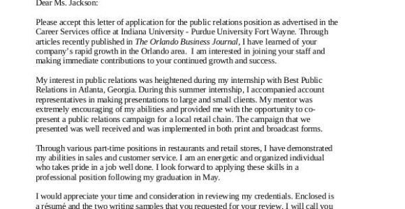 Community Relations Cover Letter Cover Letter 13 Free Sample Example format Free