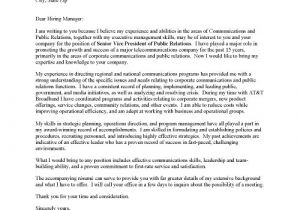 Community Relations Cover Letter Cover Letter for Public Relations Job