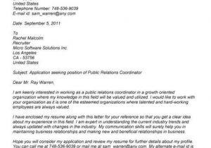 Community Relations Cover Letter Pr Marketing Cover Letter Resumepower