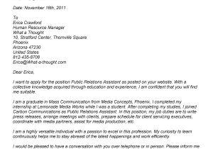 Community Relations Cover Letter Public Relations Resume Sample Resume Badak