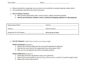 Community Service Project Proposal Template Service Proposal Template 14 Free Word Pdf Document