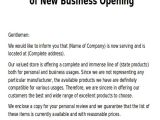 Company Announcement Email Template Sample New Business Letters 6 Examples In Word Pdf