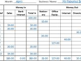Company Bookkeeping Templates Single Entry Bookkeeping