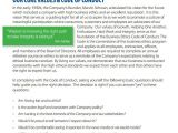 Company Code Of Ethics Template 6 Code Of Conduct Samples Sample Templates
