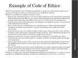 Company Code Of Ethics Template Ethical Code Of Conduct