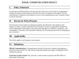 Company Email Policy Template 9 It Policy Templates Free Pdf Doc format Download
