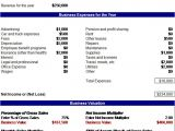 Company Valuation Template Excel Download Small Business Valuation Related Excel Templates