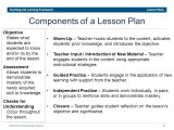 Components Of A Lesson Plan Template Dcps Teaching and Learning Framework Ppt Download