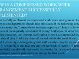 Compressed Work Week Proposal Template Compressed Workweek