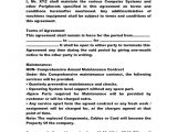 Computer Repair Contract Template Free Annual Maintenance Contract Doc by Anks13 Computer