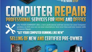 Computer Repair Flyer Template Word Computer Repair Flyers Word Excel Samples