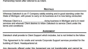 Computer Support Contract Template Free Contract Templates Word Pdf Agreements