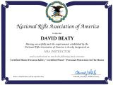 Concealed Carry Certificate Template David Beaty New Mexico Concealed Carry Classes and Resources