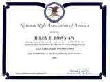 Concealed Carry Certificate Template Riley Bowman Colorado Ccw Permit Certified Instructor