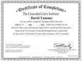 Concealed Carry Certificate Template Skirting the north Carolina Concealed Carry Permit