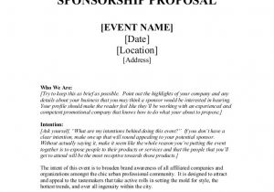 Concert Sponsorship Proposal Template Sponsorship Proposal