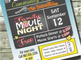 Concession Stand Flyer Template Movie Night Birthday Party Church or Community event