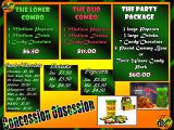 Concession Stand Flyer Template Movie theater Project Johny